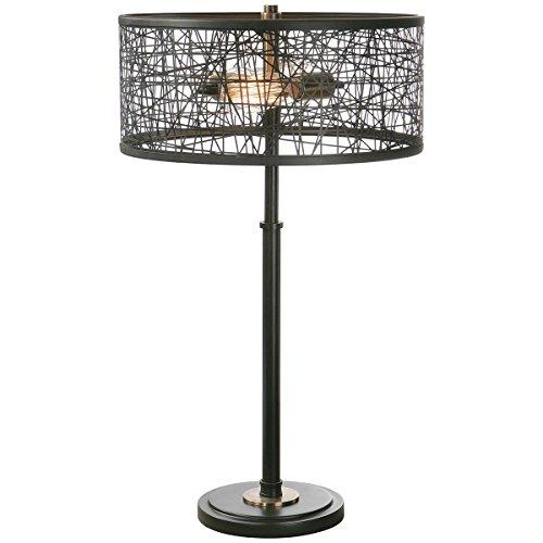 Uttermost 26131-1 Alita Drum Shade Lamp, Black -