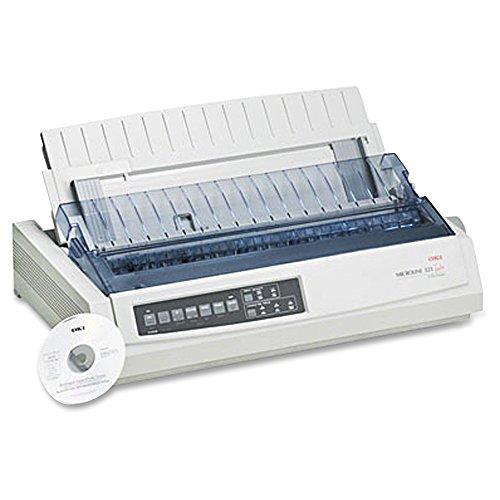 Okidata 62411701 MICROLINE 321 Turbo Dot Matrix Printer (9-pin) (435 cps) (64 KB) (288 x 144 dpi) (Max Duty Cycle 13000 Pages) (Parallel) (USB) (Energy Star)