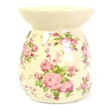 Ceramic Tealight Vintage Candle Holder Romance Essential Oil Burner by Carousel Home