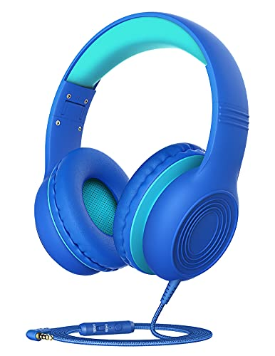 Kids Headphones with Microphone for School, Over Ear/On Ear Wired Headphones for Kids Boys Girls with Volume Limited…