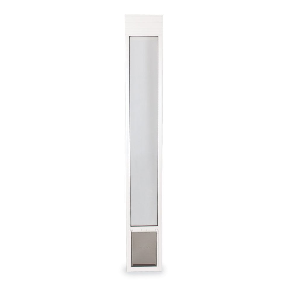 PetSafe Freedom Aluminum Patio Panel Sliding Glass Dog and Cat Door, Adjustable 76 13/16'' to 81-Inch, White, Medium