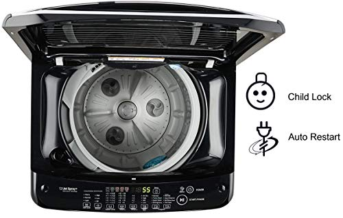 LG 6.5 Kg 5 Star Smart Inverter Fully-Automatic Top Loading Washing Machine (T65SJBK1Z, Black Knight Pattern, Jet Spray… 2021 June Fully-automatic Top load washing machine: Best Wash Quality, Energy and Water efficient Capacity 6.5 Kg: Suitable for families with 3 to 4 members Energy rating 5: Best in class efficiency