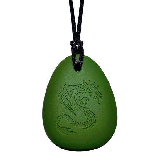 Dragon Sensory Chewelry - Munchables Chew Necklace (Green) by Munchables Chewelry