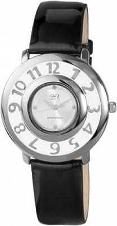 Q&Q by Citizen Mujeres Reloj de pulsera Negro Plateado Analógica Metal Cuarzo Relojes de mujer: Amazon.es: Relojes
