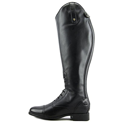 Ariat Mujeres Heritage Contour Field Zip Tall Riding Negro