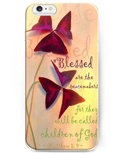 UKASE Hard Back Cover Cases for 2014 iPhone 6 (4.7 inch) with Bible Quotes Blessed Are the Peacemakers,for They Will Be Called Children of God