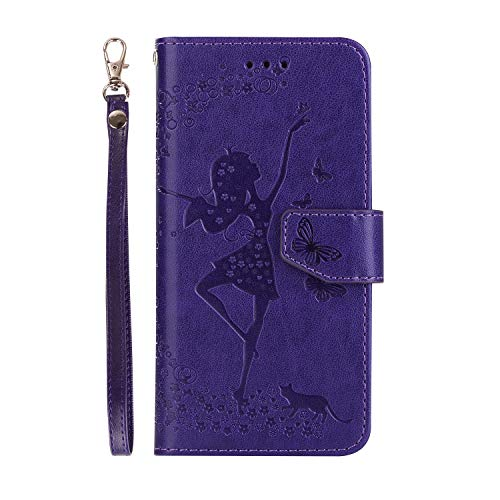 - ZITEZHAI-phone case TPU+Pu Endorse Cover with Shockproof Design, for iPhone 6Plus Alloy Zipper+ Undestroyable Wallet Case Classic & Fashion (Color : Purple)