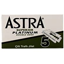 Astra Platinum Double Edge Blades 5 blades by Astra