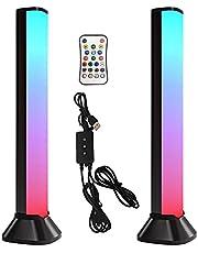 Xuanshengjia Smart LED Light Bars, RGB Light Bar Room Decor Play Light Bar voor Gaming PC, Bureau Hoofdtelefoon Houder Duurzame Gaming Oortelefoon Hanger voor Desktop Gamer Hoofdtelefoon Accessoires