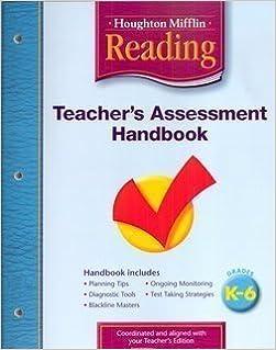 Book Houghton Mifflin Reading: Teacher's Assessment Handbook Grades K-6 by HOUGHTON MIFFLIN (2004-01-01)