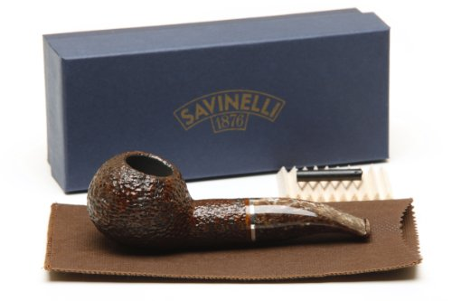 Savinelli Marron Glace 320 KS Rustic Brown Tobacco Pipe by Savinelli