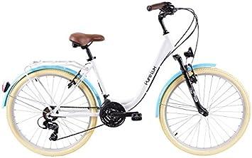 Biocycle Pure Lux Bicicleta de Paseo, Mujer, Blanco, Única: Amazon ...