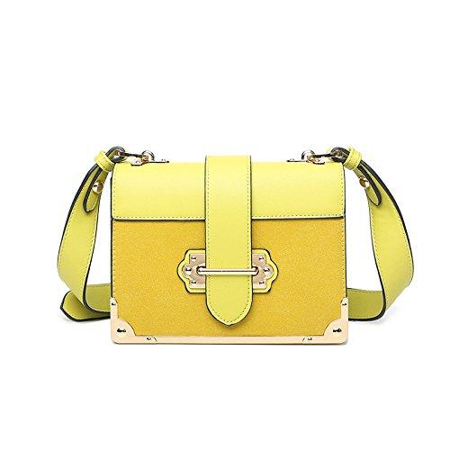 À Sac Petit Casual Mode Retro Sacs Zllnsxkb Gommage Fête Lady Bandoulière Yellow De 06xwnqt1