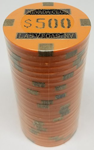 Poker Chips - (25) $500 Nevada Club 15 gram Clay Composite ()