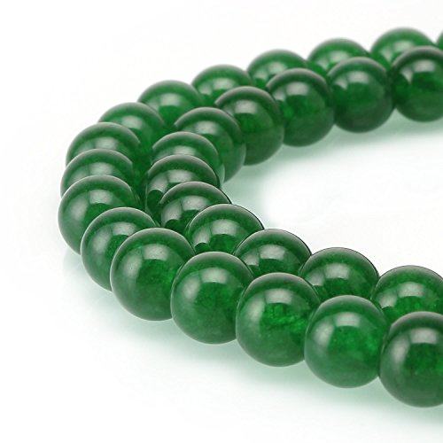 - Top Quality Natural Green Jade Gemstone Loose Round Beads 8mm Spacer Beads 15.5