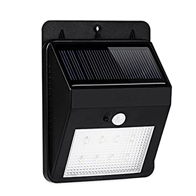 CoCo Wireless Security Bright Solar Power Outdoor 8 LED Light Motion Activated Light with Dusk to Dawn Dark Sensing Auto On / Off Function for Garden Patio Deck Yard Path Pool, Home, Driveway, Stairs