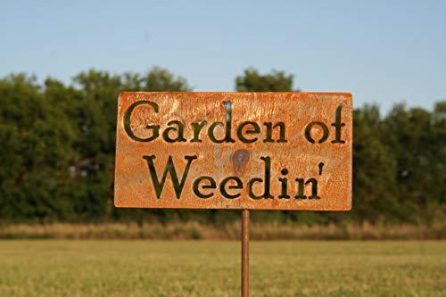 Garden of Weedin' Metal Garden Stake