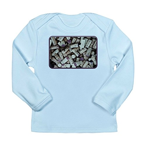 Truly Teague Long Sleeve Infant T-Shirt I love Wine Corks - Sky Blue, 3 to 6 Months
