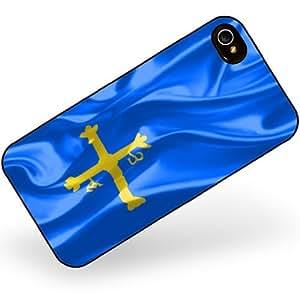 Rubber Case for iphone 4 4s Asturias 3D Flag region: Spain - Neonblond