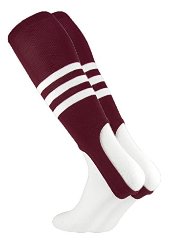 Baseball Stirrups by TCK Pattern B (Maroon/White, ()