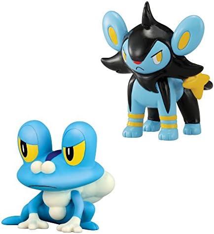 Pokemon XY Serie 3 cama Figura Pack - Froakie vs Luxio: Amazon.es ...