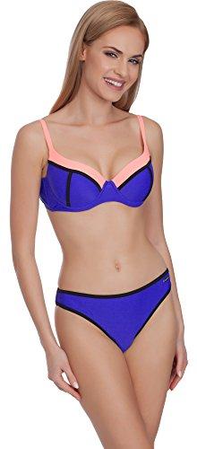 Merry Style Mujer Bikini Set Traje de Baño MS75 Aciano/Salmón