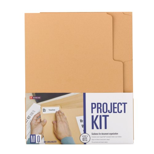 Smead MO File Folder Project Kit, Letter Size, Camel, 9 per Pack (11802)