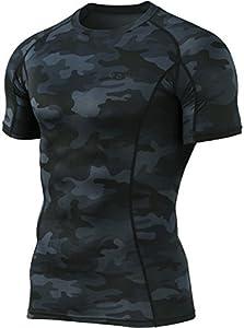 Tesla TM-MUB23-MBK_Small Men's Short Sleeve T-Shirt Cool Dry Compression Baselayer MUB23