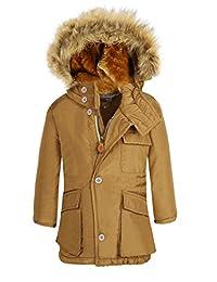 Boy's Winter Coats Insulated Jackets with Fleece Lined Hood