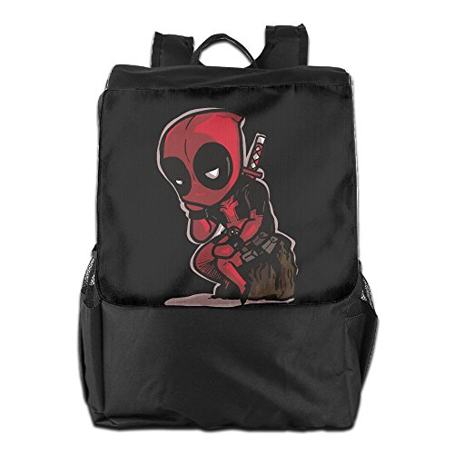Price comparison product image Amurder Outdoor Fictional Antihero Deadpool Travel Backpack Shoulder Rucksack Bag Unisex Black