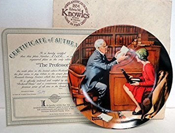 Norman Rockwell Collector Plate - The Professor by Edwin M Knowles China Company ()
