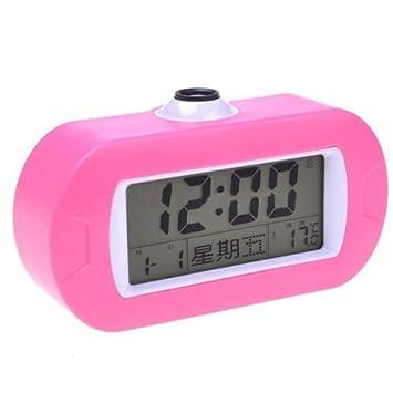 Proyector LED de alarma del reloj de control de sonido Mute Tiempo ...