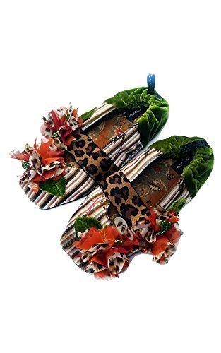 Nuovo Goody Goody Bon Bon Comode Pantofole Di Seta Cheetah