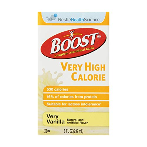 Boost VHC Very High Calorie Complete Nutritional Drink, Very Vanilla, 8 fl oz Box, 27 ()