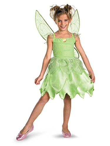 Girls Disney Fairies Tink and The Fairy Rescue Classic Costume, X-Small (3T-4T) ()