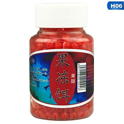 Jammas 1 Bottle 70g 450pcs Carp Fishing Jelly Bait Strawberry Corn Milk Sweet Potato Flavor Beads Bean Boilies - (Color: 06)