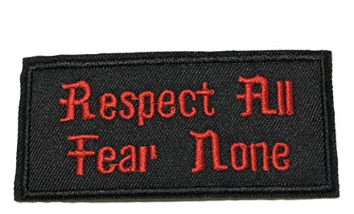 Respect All Fear None Embroidered Patch Tactical Military