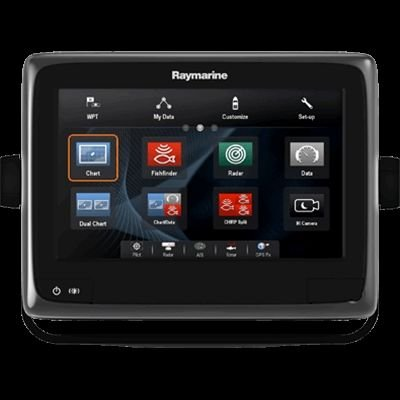 Raymarine a98 Multifunction Display with DownVision/Wi-Fi/CPT-100 Transom Mount Transducer and US LNC Vector Charts