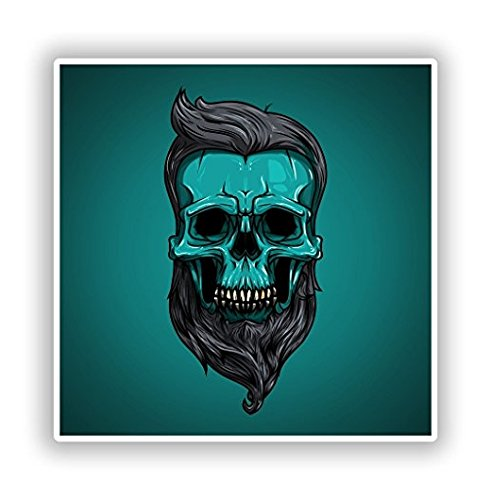 Hipster Skull Vinyl Stickers Scary Horror Halloween Creepy - Sticker Graphic - Sticks to Any Smooth Surface - Cars, Walls, Cellphones, Laptops, Windows]()