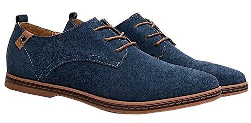 cheap for discount 5b64c 7af0e Herren Wildleder Business Schuhe Casual Blau ymNwv8n0O