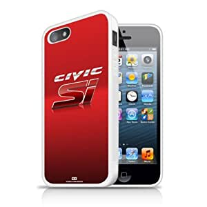 Honda Civic Si Red iPhone 5 White Cell Phone Case