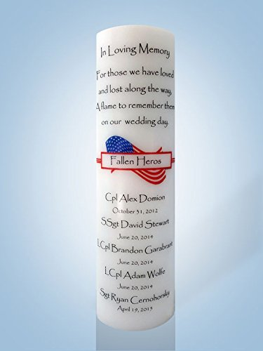 Personalized Candle Store Personalized Fallen Heroes Wedding Memorial Candle 12