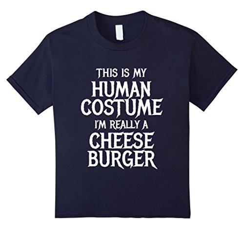 Big Boy Burger Costume (Kids Cheeseburger Halloween Costume for women men kids easy funny 12 Navy)