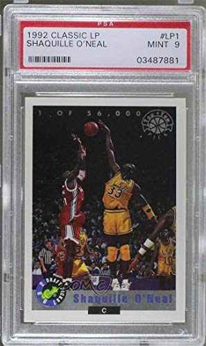 Shaquille O'Neal Graded PSA 9 MINT #/56,000 (Basketball Card) 1992 Classic Draft Picks - Top Ten Pick - Foil #LP1