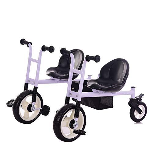 Cochecito de bebé, GUO@ Doble NiñOs Doble Triciclo Asiento ...