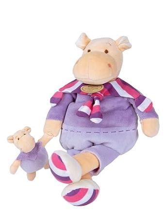 Amazon.com: Doudou et Compagnie Z Amigolos Maman Bébé Hippo ...
