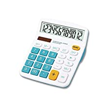 Desktop Electronic Calculator 12 Digit Display Solar Energy Dual Power Supply with Big Buttons for School/Office Use