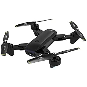 Widewing Drone With Camera Sg700-D 2.4Ghz 4Ch Wide-Angle Wifi 720P Optical Flow Dual Camera Rc Helicopter Selfie Quadcopter Drone With Camera Live Video Black