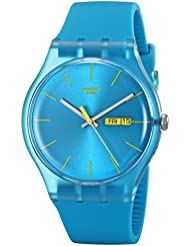 Swatch Mens SUOL700 Watch with Turquoise Band