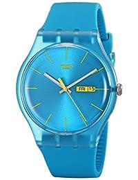 Swatch Men's SUOL700 Quartz Turquoise Dial Measures Seconds Plastic Watch